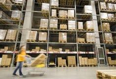 Large furniture warehouse Royalty Free Stock Image