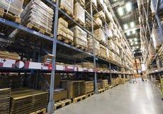 Large furniture warehouse stock photography