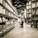 Large furniture warehouse Royalty Free Stock Image