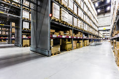 Large furniture warehouse Stock Photography