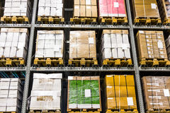 Large furniture warehouse Royalty Free Stock Photo