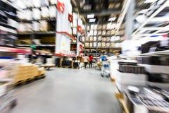 Large furniture warehouse Royalty Free Stock Photos