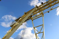 A large gantry crane Stock Images