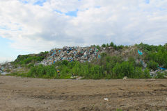Large garbage dump outside of city Royalty Free Stock Photos