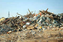 Large garbage dump Royalty Free Stock Photography