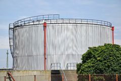 Large gas container Royalty Free Stock Images