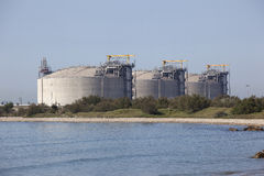 Large gas tanks Stock Images