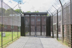 Large gate at an old jail Stock Image