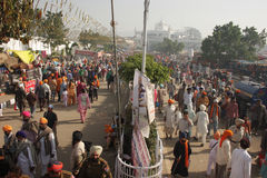 Large gathering of devotees in Punjab, India Royalty Free Stock Image