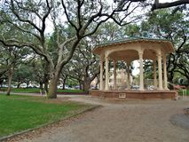 Battery Park Gazebo. A large gazebo in the center of Battery Park, a waterfront park in downtown Charleston, South Carolina along the Cooper and Ashley Rivers stock photography