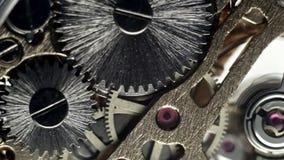 Large gears clockwork watch. Full HD stock footage