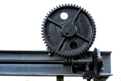 Large gears from motion system Royalty Free Stock Photography