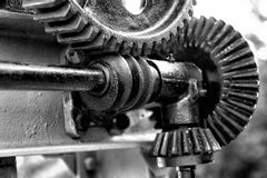 Large gears from motion system Stock Photo