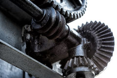 The large gears from motion system Royalty Free Stock Images