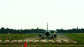 German air force plane. Large German air force transport plane taking off of Hannover international airport stock video