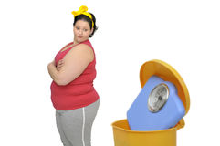Large girl Stock Photo
