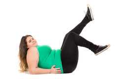 Large girl Stock Image