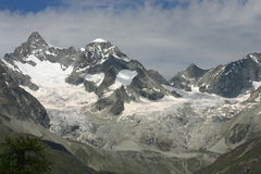 Large glacier. Near Zermatt Switzerland Royalty Free Stock Photography