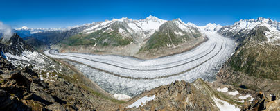 Large Glacier - Panorama Stock Image