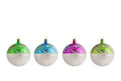 Large Glass Christmas Baubles Royalty Free Stock Photo