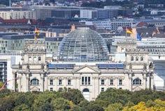 Roof of German parliament building Bundestag in Berlin, German Royalty Free Stock Photos
