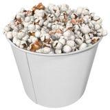 Large glass full of popcorn, 3d render Stock Images