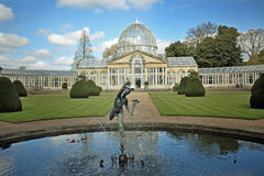 The Large Glass House located within the grounds of Syon House stock photos