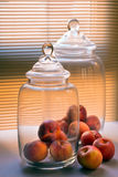 Large glass jars Stock Image