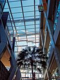 Large Glass Plate Atrium Stock Photo
