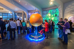 Large Globe in Museum Urania of Moscow Planetarium, Russia Royalty Free Stock Photo