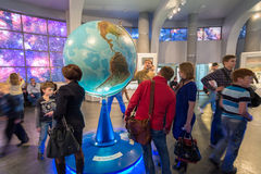 Large Globe in Museum Urania of Moscow Planetarium, Russia Royalty Free Stock Photography