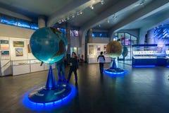 Large Globe in Museum Urania of Moscow Planetarium, Russia Stock Photo