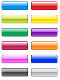 Large Glossy Buttons. Different colored large glossy / gel vector buttons. Available in EPS vector illustration