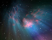 Large glowing nebula Royalty Free Stock Photos