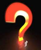 Large Glowing Question Mark Royalty Free Stock Photography
