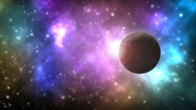 Universe galaxy with lot of stars and planets stock illustration