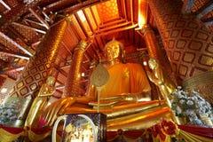 Large gold buddha Royalty Free Stock Images