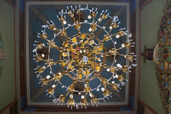 Large gold chandelier in the Church Royalty Free Stock Image