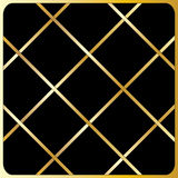 Large gold diagonal lines, Black Background. Large cage, gold pattern, Black Background Royalty Free Stock Images
