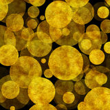 Large Gold Dots Faux Foil Metallic Black Background Stock Photo