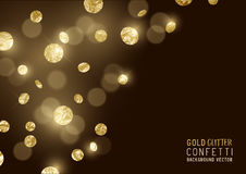 Large Gold glitter Confetti royalty free illustration