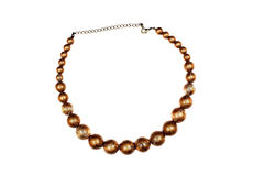 Large gold necklace Royalty Free Stock Image