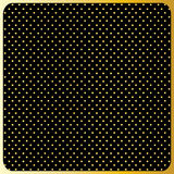 Large Gold Polka Dots, Black Background Stock Photo