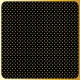Large Gold Polka Dots, Black Background Stock Photo