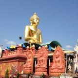 Large golden Buddha center Stock Image