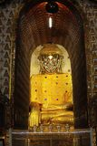 Large golden Buddha statue at Myanmar royalty free stock images