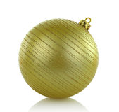 Large golden Christmas ball Stock Images