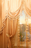 Large golden curtain Royalty Free Stock Photos