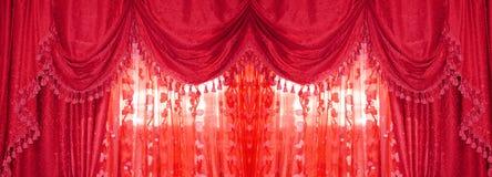 Large golden curtain Stock Photo
