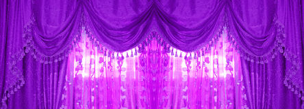 Large golden curtain Stock Photography
